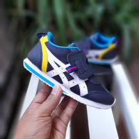 Sepatu Anak Asic Hitam Velcro Size 23-32 Sneakers Good Quality BNIB