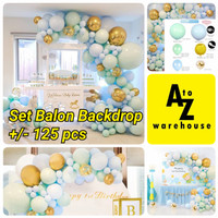 Set Balon Latex Ulang Tahun Party Dekorasi Baby Blue Balon Pastel