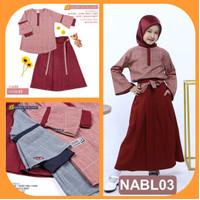 Baju Gamis Anak Perempuan Usia umur 5 6 7 8 9 10 11 12 Tahun (NABL03)