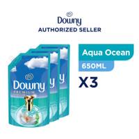 Downy Pewangi dan Pelembut Pakaian Konsentrat Aqua Ocean 650ml - Isi 3