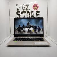Laptop Asus VivoBook S14 A411 2018 MX130 2GB 4/500 Lengkap Mulus