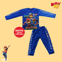 Baju Anak Boboiboy Galaxy Kaos Setelan Panjang Kostum Superhero