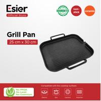 Esier BBQ Grill Pan - Pemanggang Daging untuk Kompor Gas / Induksi