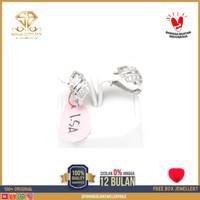SBJ - anting emas putih wanita perhiasan emas asli 375 AMM154