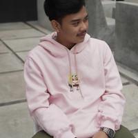 #NEWARRIVAL Inframe: Hoodie H&M SPONGEBOB Pink Available size Medium