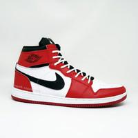 Sepatu Nike Air Jordan Retro Basket Boots Casual Sneakers Pria - MERAH PUTIH, 42