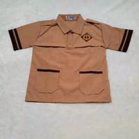 baju seragam sekolah pramuka siaga lengan pendek kelas 1-6 sd