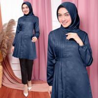 baju muslim fashion wanita DEBORA . allsize fit to XL - Navy