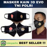 MASKER KAIN 3 LAPIS TNI-POLRI BAHAN KATUN TOYOBO / PREMIUM 3 PLY PROMO