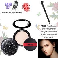 Anna Sui Black Pressed Powder - bedak padat compact + puff sponge