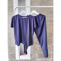 Baju Tidur Piyama Polos Lengan Pendek Celana Panjang Wanita