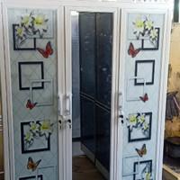 Lemari Pakaian Alumunium Pintu 3 Putih