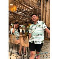 CEDRIC Kemeja Pantai Pria Wanita BANDA NEIRA Hawaiian Shirt - M