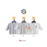 NOVA 3pcs Baju Bayi Lengan Panjang 0-3 Bulan (Grey Series)
