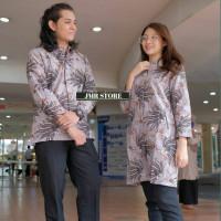 tunik batik wanita Jombo couple batik baju batik pria lengan panjang - cewe, 6XL
