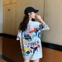Kaos / T-Shirt Wanita Model Grafiti/Bunga