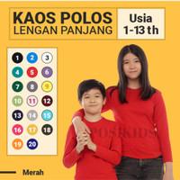 Kaos Polos Anak Lengan Panjang Katun Combed   Cotton Combed