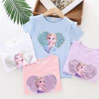 BF01 Baju Anak Frozen II Tshirt Kaos Atasan Elsa Pakaian Perempuan