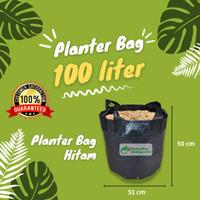 Planter Bag 100 Liter Hitam 4 Handle Pot Tanaman Tabulampot Polybag