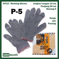 GROSIR Sarung Tangan Kerja Safety Gloves Bulldozer P-5 Murah - W712