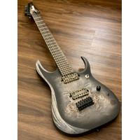 Ibanez Axion Label RGD71ALPA Electric Guitar-Charcoal Burst Black Flat