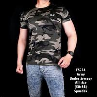 Baju Kaos Pria ARMY TNI gym Fitness Tentara Loreng