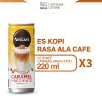NESCAFE Kopi Minuman Kaleng Caramel Macchiato 220ml 3pcs