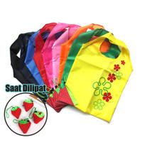 Tas Belanja Lipat Serbaguna Strawberry Baggu Bag Lipat Praktis