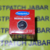 Bestpatch medium round untuk tambal ban dalem motor dan mobil size 60