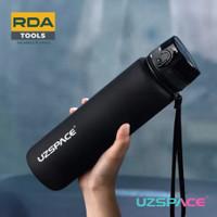 UZSPACE 3038 Botol Minum Olahraga Frosted Bottle 1000ML USA Tritan - Classic Black