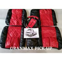 Car Seat Organizer Sarung Jok Mobil Pickup Khusus Daihatsu Granmax PU - merah hitam