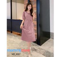 Mommymine Dress Hamil / Menyusui Impor (MD_9307) - Merah Muda, M