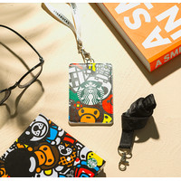 The Starbucks x *BABY MILO STORE Cardholder and Lanyard