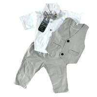jas formal tuxedo baju anak bayi laki laki 3 bulan - 2 tahun pesta
