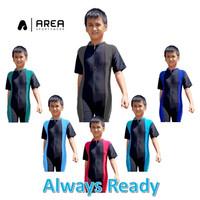 Baju renang diving anak polos unisex SD usia 6-10 tahun