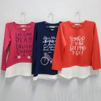 Baju Anak Perempuan Blus Atasan Panjang Stretch umur 6-10 tahun