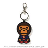 Bape Baby Milo x DC Superman Sillicone Keychain