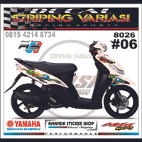 decal striping mio sporty 8026 #6 sonic movistar