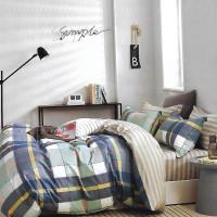 Sleep Buddy Set Sprei Square Greyes Cotton Sateen Extra King Size