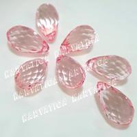 Mote Akrilik Bandul Tetes Segi 24 mm x 14 mm - Pink (per pcs)
