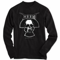 kaos/baju lengan panjang dewasa musik band rock Metal punk doom hitam