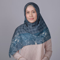 Zoya Mukuna Scarf - Hijab Kerudung Segi Empat - Navy
