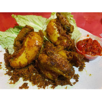 Ayam Goreng dengan Sambal Bajak
