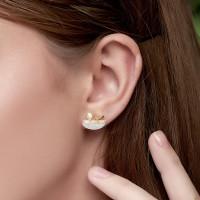 Botanical - Anting Studs Perak 925 Silver 18k Gold Plated Earring
