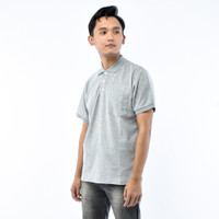 SEYES T3027 Tumblr Tee Polo shirt Pria Atasan Kaos Pria Abu