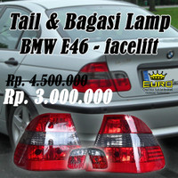 stop lamp/ tail lamp bmw e46 facelift Smoke grey original BMW