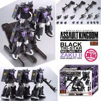 Gundam Figure Assault Kingdom EX 02 Zaku II Black Tristar Tri Star LMT