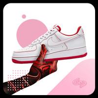 Nike Air Force 1 07 'Contrast Stitch - University Red' - 100% Original - 8