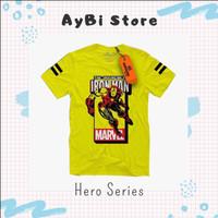 [ Azkazki ] - Baju Kaos Anak Laki-laki Lengan Pendek- 2-12T - Iron Man - 2 Tahun