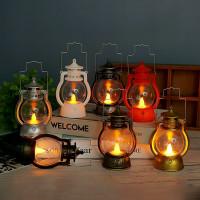 Lentera Mini LED Dekorasi Natal Lilin Doa Senter Murah Pajangan Natal